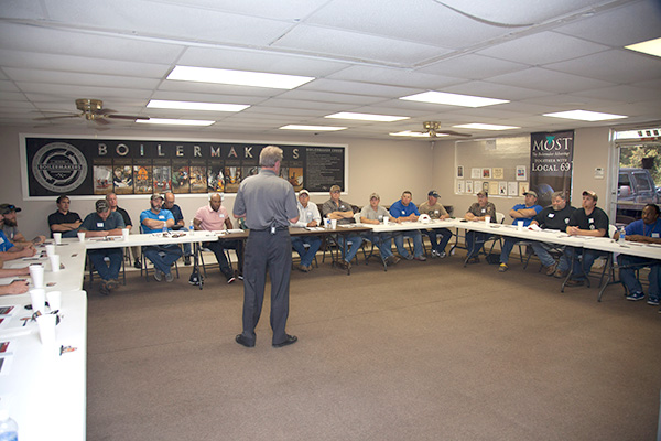 The Boilermaker Code Training at Local 69, Little Rock, AR