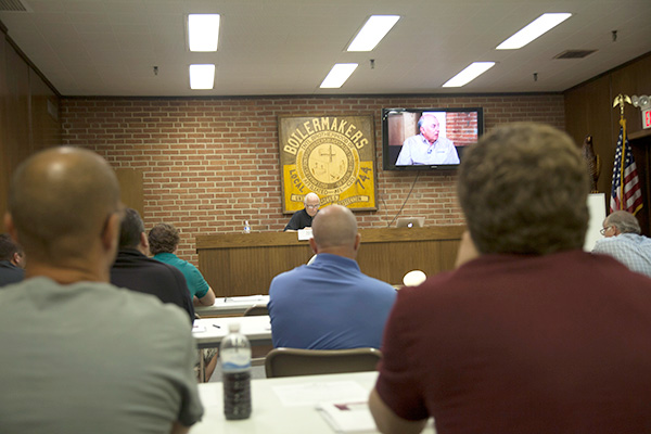 The Boilermaker Code Training at Local 744, Cleveland, OH